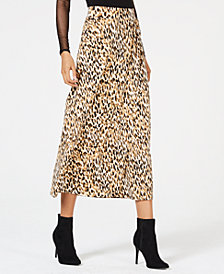 Thalia Sodi Leopard-Print Skirt, Created for Macy's
