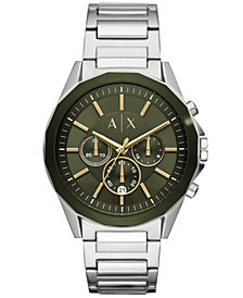 A|X Armani Exchange Men's Chronograph Drexler Stainless Steel Bracelet Watch 44mm