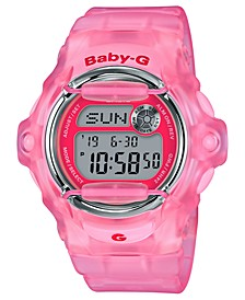 Women's Digital Pink Jelly Strap Watch 42.6mm