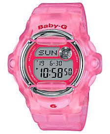 Baby-G Women's Digital Pink Jelly Strap Watch 42.6mm