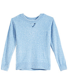 Epic Threads Big Girls Chenille Keyhole Sweater, Created for Macy's