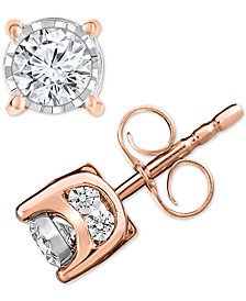 TruMiracle® Diamond Stud Earrings (1/2 ct. t.w.)