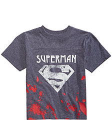 DC Comics Little Boys Superman Splatter Graphic T-Shirt