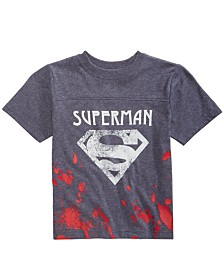 DC Comics Little Boys Superman Splatter Graphic T-Shirt