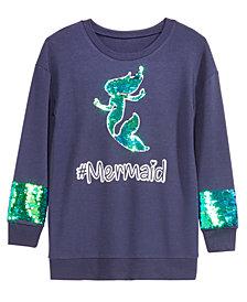 Beautees Big Girls Mermaid Reversible Sequin Sweatshirt