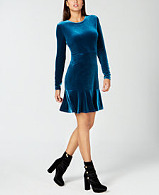 MICHAEL Michael Kors Velvet Flounce Dress