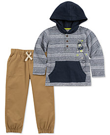 Kids Headquarters Little Boys 2-Pc. Spaceship Hoodie & Jogger Pants Set