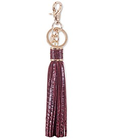 Large Tassel Melbourne Embossed Leather Key Chain