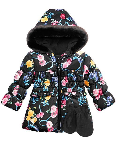 f59dc483cdad S Rothschild   CO Baby Girls 2-Pc. Floral-Print Hooded Jacket ...