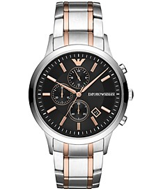 Chronograph Men's Two-Tone Stainless Steel Bracelet Watch 43mm