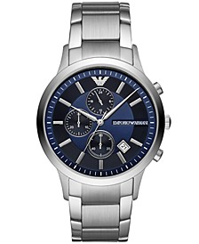Men's Chronograph Stainless Steel Bracelet Watch 43mm