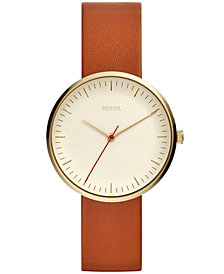 Fossil Women's Essentialist Luggage Leather Strap Watch 38mm