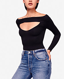 Free People Off-The-Shoulder Cutout Top