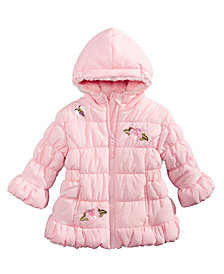 S Rothschild & CO Baby Girls Hooded Bubble Jacket