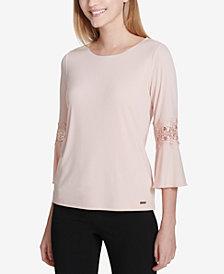 Calvin Klein Lace-Trim Top