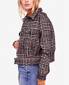 Free People Slouchy Eisenhower Plaid Jacket