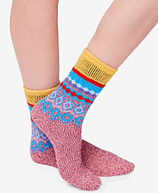 Free People Snowbird Slipper Printed Socks