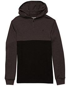 Volcom Big Boys Murphy Thermal Hooded Shirt