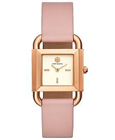 e558cb103e939 Tory Burch Women s Phipps Pink Leather Strap Watch 29x42mm