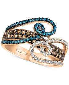 Le Vian Exotics® Diamond Statement Ring (1 ct. t.w.) in 14k Rose Gold