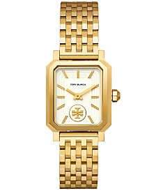 Tory Burch Women's Robinson Gold-Tone Stainless Steel Bracelet Watch 27x29mm