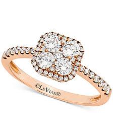 Le Vian® Diamond Halo Ring (3/4 ct. t.w.) in 14k Rose Gold