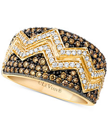 Le Vian Chocolatier® Chevron™ Diamond Pavé Band (1 ct. t.w.) in 14k Gold