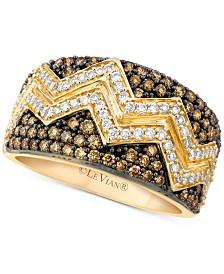 Le Vian Chocolatier® Chevron™ Diamond Pavé Band (1 ct. t.w.) in 14k Gold