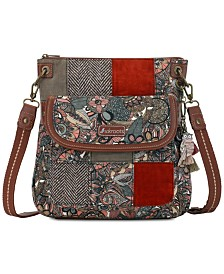 Sakroots Flap Canvas Crossbody