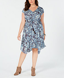 Style & Co Plus Size Printed A-Line Dress, Crated for Macy's