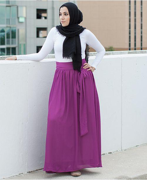 9d7504296 Verona Collection High-Waist Maxi Skirt & Reviews - Skirts - Women ...
