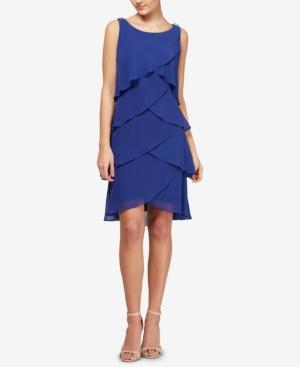 1920s Plus Size Fashion in the Jazz Age Sl Fashions Tiered Chiffon Dress $89.00 AT vintagedancer.com