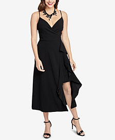 RACHEL Rachel Roy Ruffled Faux-Wrap Dress