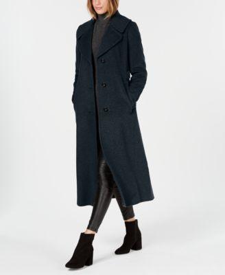 Notch-Collar Maxi Coat