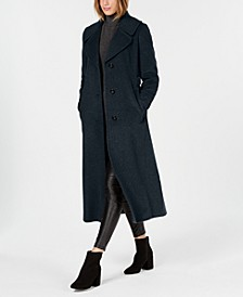 Notch-Collar Maxi Coat