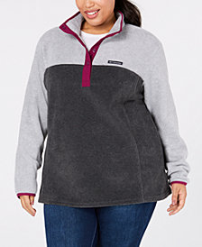 Columbia Plus Size Three Lakes Half-Snap Fleece Top
