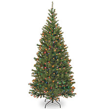 National Tree 7.5' Spruce Hinged Tree with 450 Multi Lights