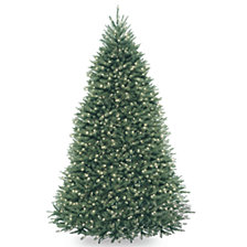 National Tree 9' Dunhill®  Blue Fir Hinged Tree with Clear Lights