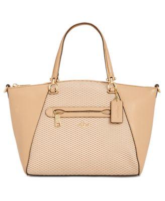 coach legacy jacquard prairie satchel handbags accessories macy s rh macys com