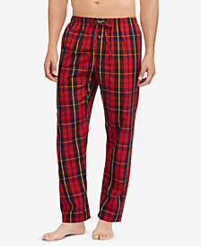 Polo Ralph Lauren Men's Plaid Woven Cotton Pajama Pants