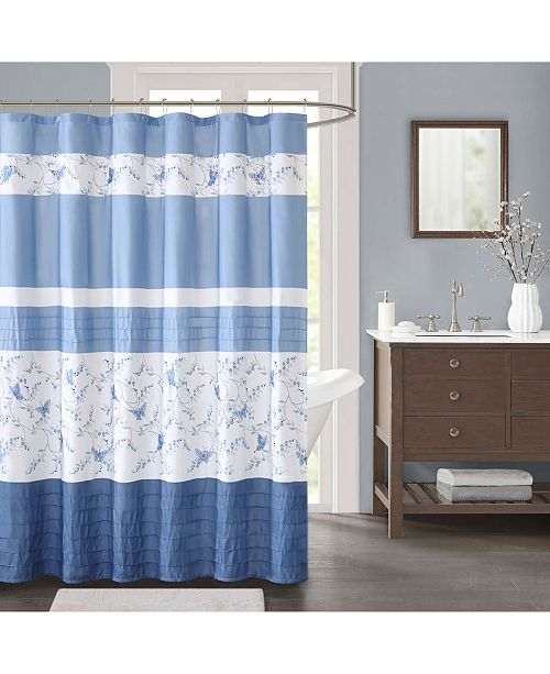 """JLA Home Solandis Printed 72"""" x 72"""" Shower Curtain, Created for Macy's"""