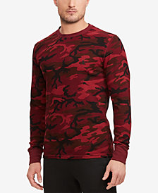 Polo Ralph Lauren Men's Camo Print Waffle-Knit Thermal