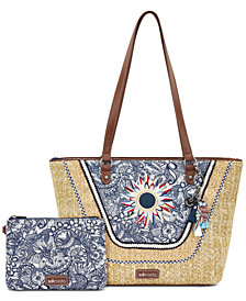 Sakroots Meadow Straw Tote