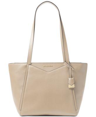 michael kors whitney pebble leather tote handbags accessories rh macys com