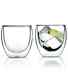 Pavina Set of 2 Double Walled 8.5 Oz. Glasses