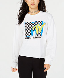 Freeze 24-7 Juniors' MTV Crop Long-Sleeved Graphic T-Shirt