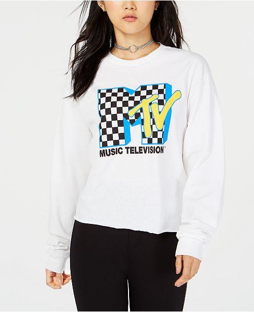 a776190ea97 Freeze 24-7 Juniors' MTV Crop Long-Sleeved Graphic T-Shirt ...