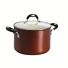 Tramontina Style Ceramica Metallic Copper 6 Qt Covered Stock Pot
