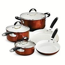Style Ceramica Metallic Copper 8 Pc Cookware Set