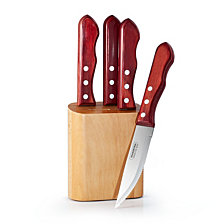 Tramontina Porterhouse 5 Pc Steak Knife Set with Counter Block